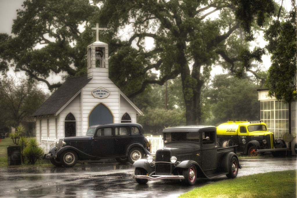 Cars and church